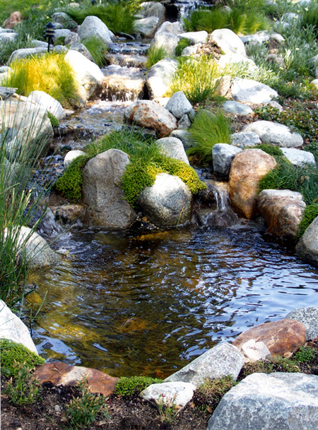 Water garden pond and waterfall supplies for Outdoor fish pond supplies